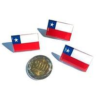 Pin bandera acrílico con dome 2,8 x 1,8 cms.