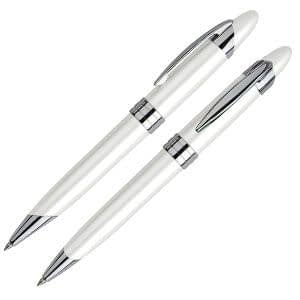 Bolígrafo Metálico Blanco Perla